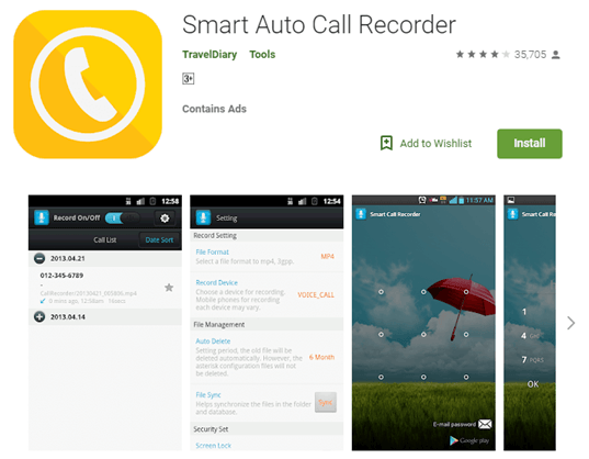 Auto call recorder app