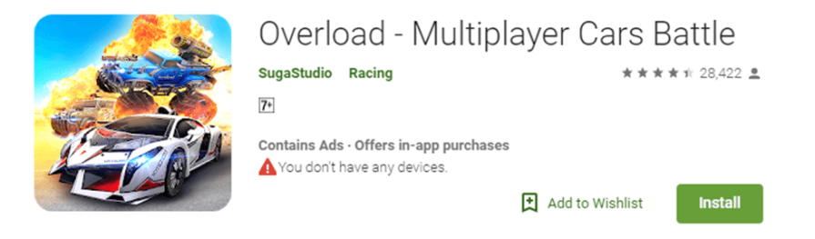 Overload - Multiplayer Cars Battle game