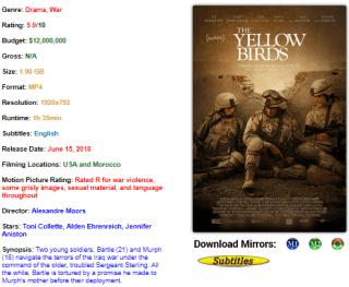 Download The yellow Bird 2017 Movie