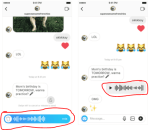New Instagram Feature – Ability to Send Audio Voice Record Messages