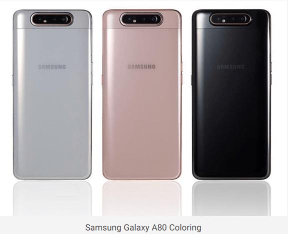 galaxy A80 colors