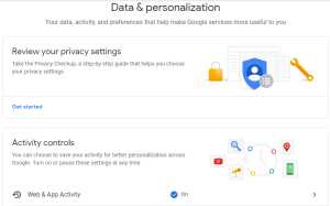 Google delete data privacy details automatically