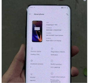 OnePlus 7 Pro official specs