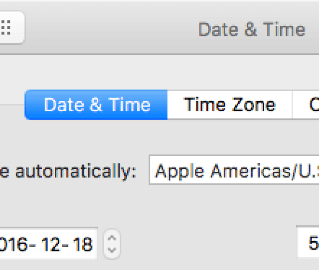 Set Date And Time Automatically Option On Mac