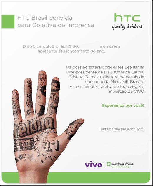 Windows Phone 7 chega no Brasil dia 20 pelas mãos da HTC