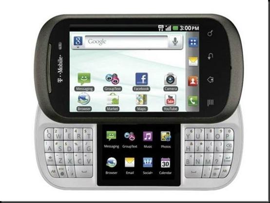 """LG apresenta smartphone com duas telas; DoublePlay; Uma delas tem 3,5 polegadas e a outra, que divide o espaço com o teclado, mede 2"""""""