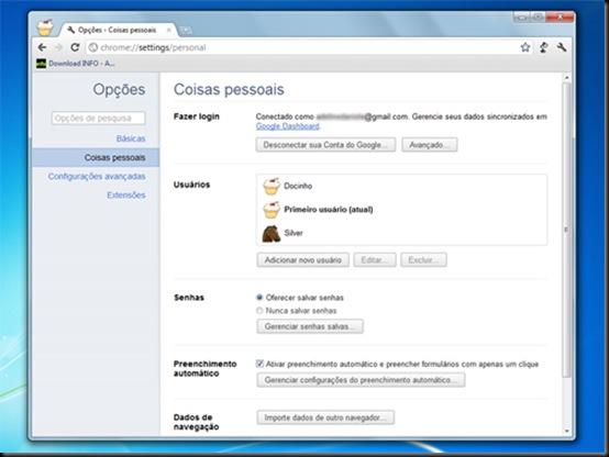 Nova versão do Google Chrome permite criar usuários e sincronizar contas, Google, Chrome, Navegadores