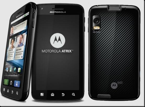 Motorola Atrix, Android, Gingerbread