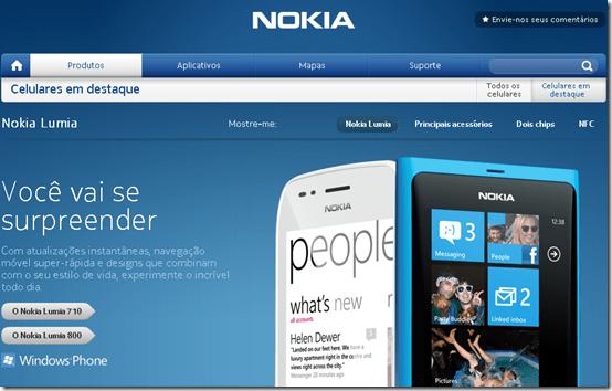 Lumia 710 e 800 aparecem no site da Nokia do Brasil, Nokia, Smartphones, Windows phone