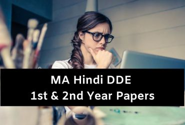 MA Hindi Distance Question Papers