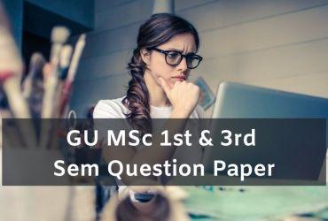 Gu MSc 1st & 3rd Sem Question Paper