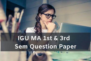 IGU MA 1st 3rd Sem Question Paper