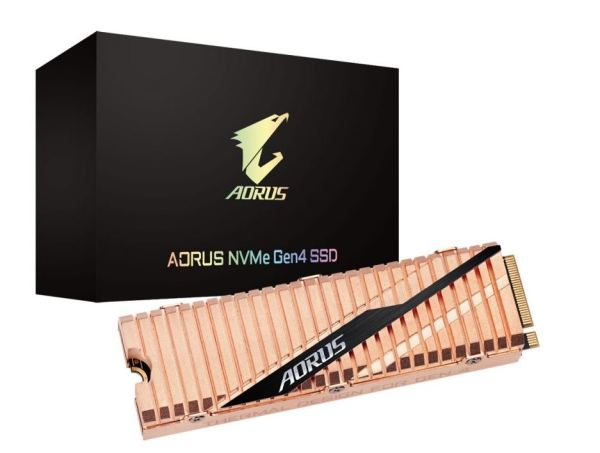 Gigabyte Aorus 500GB NVMe Gen 4 M.2 PCIe 4.0 SSD , Read up to 5000 MB/s , Write Up to 2500MB/s