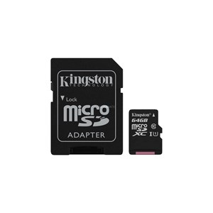 KINGSTON 64GB MICROSDXC UHS-1 CANVAS SELECT PLUS MEMORY CARD WITH SD ADAPTER