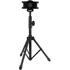 """StarTech.com Adjustable Tablet Tripod Stand - Up to 27.9 cm (11"""") Screen Support - 1 kg Load Capacity - 157.5 cm Height x 61 cm Width - Floor Stand, Portable, Desktop - TAA Compliant"""