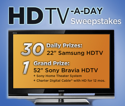 Win a TV a day throughout April! (sweepstakes)