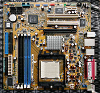 The A8N VM CSM, an ASUS microATX motherboard