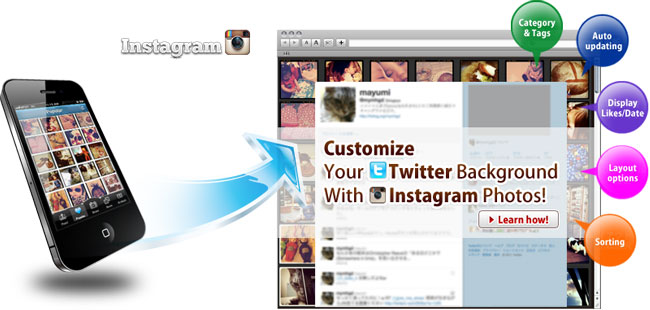 InstaBG: Have A Twitter Background With InstaBG