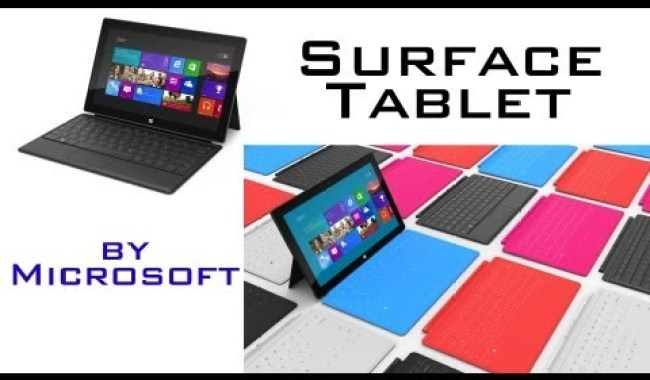 Microsoft Launches 'Surface', A Windows Powered Tab