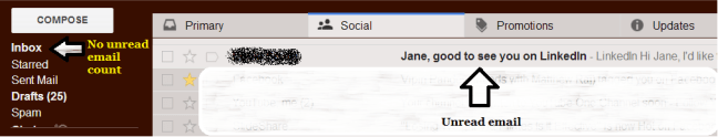 Gmail tabs fail