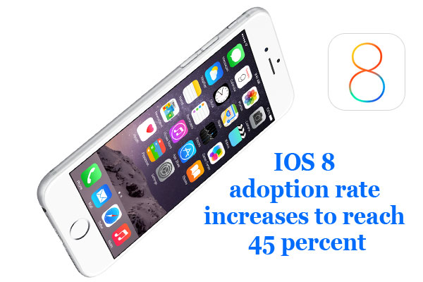 IOS 8 adoption rate increases to reach 45 percent
