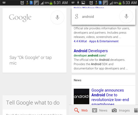 """You could now say """"OK Google"""" from any screen on your Android phone"""