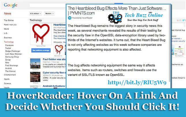 HoverReader: Hover On A Link And Decide Whether You Should Click It!