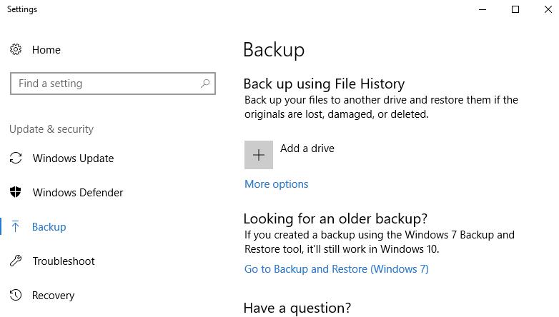 Backup drive