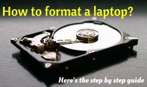 How to format a Laptop hard drive