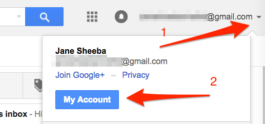 Gmail my account