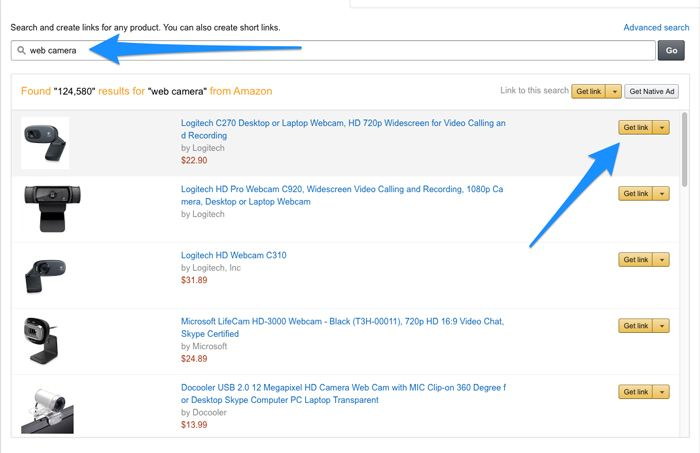 amazon-associate-product-search-results