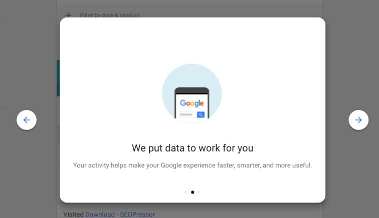 google my activity welcome 2