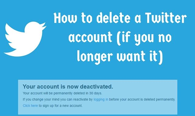 how to get an inactive twitter account deleted