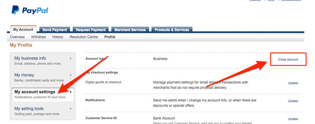 Paypal-close-account