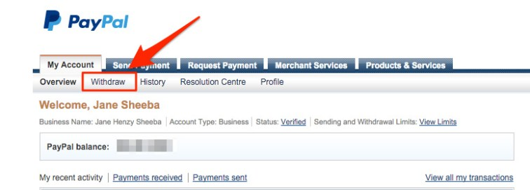 Paypal-withdraw