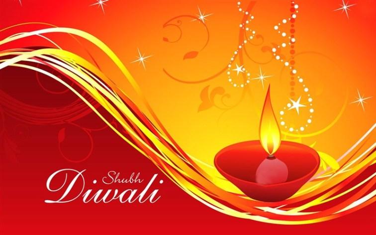 Shubh Diwali Greeting Wallpaper