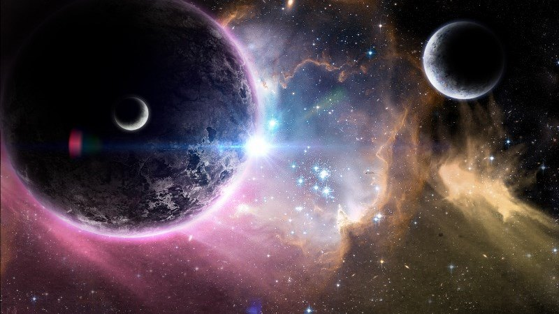 Planets and Moons in Universe