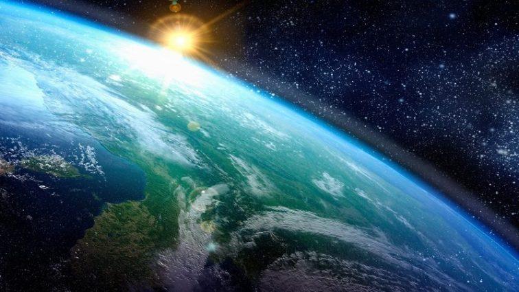 Sunlight Hitting Earth