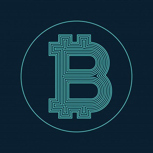 1 digital bitcoin currency symbol vector design