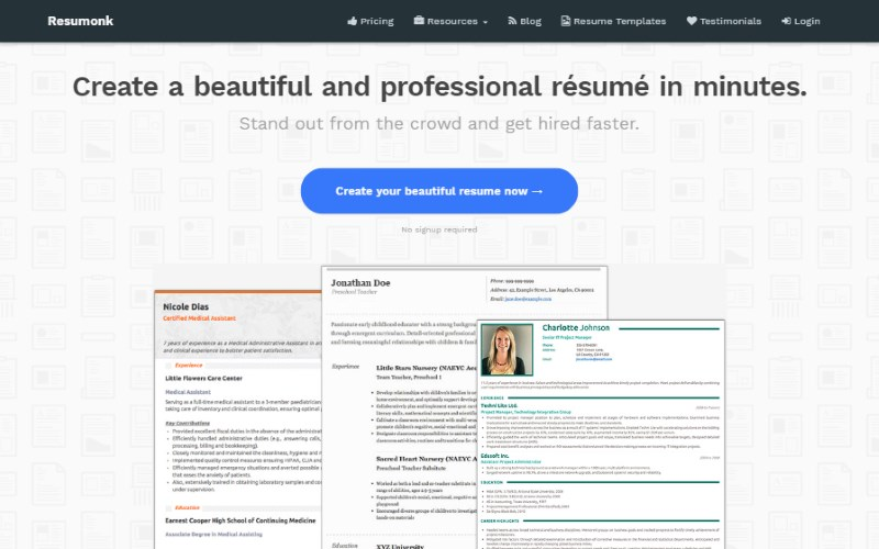 11 resumonk resume template