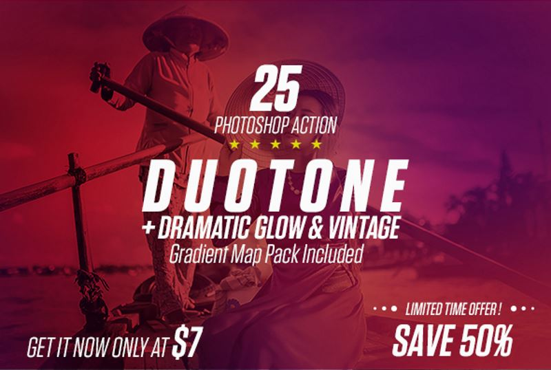 15 duotone ps action gradient map