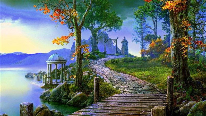 Nature Fantasy Landscape HD Wallpaper
