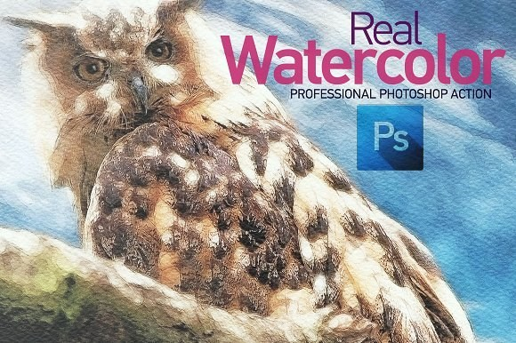 real water color action for photoshop