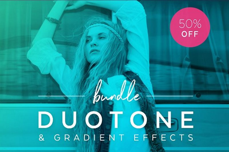 19 duotone actions photoshop bundle