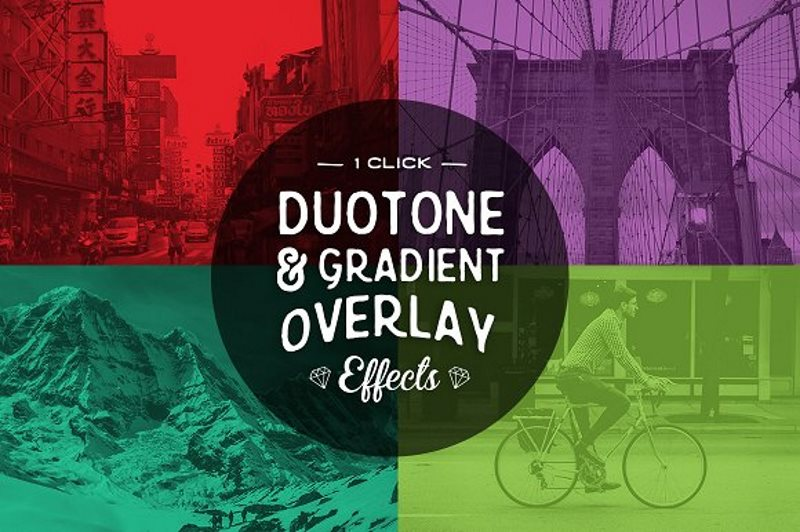 20 duotone photoshop actions