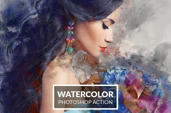 professional watercolor photoshop action