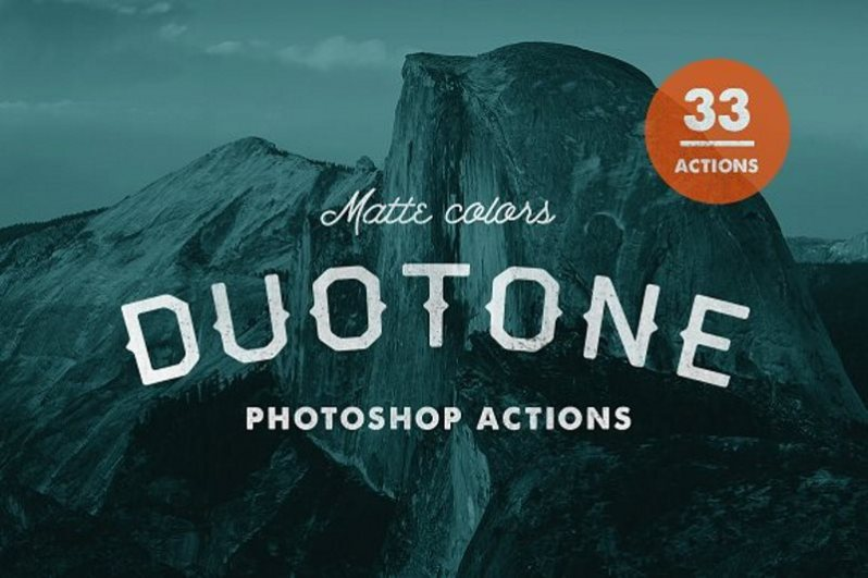 22 matte duotone photoshop actions