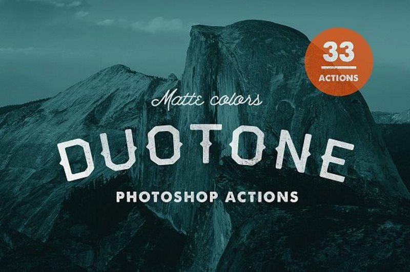 22 matte duotone photoshop actions