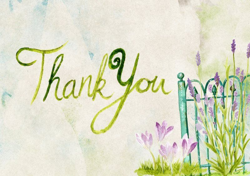 27 thank you greeting card