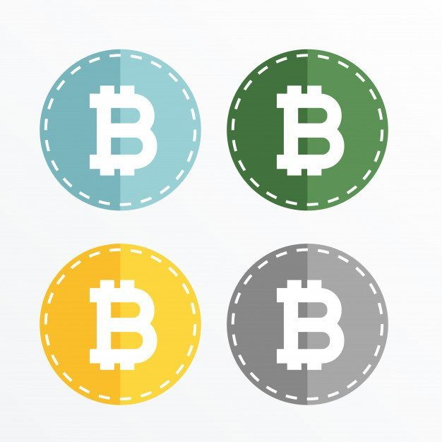 3 bitcoin symbol icons vector design